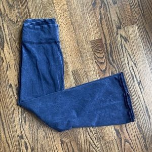 Aerie Blue Washed Kick Cropped Flare Pants